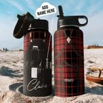 Hairstylist Uniform Personalized THA2710021 Stainless Steel Bottle With Straw Lid
