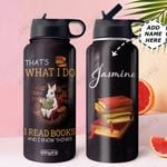 Rabbit Book Personalized DNR2710011 Stainless Steel Bottle With Straw Lid