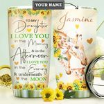 To My Daughter Giraffe Personalized DNR2810017 Stainless Steel Tumbler