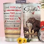 Elephant Faith Personalized TTR2810006 Stainless Steel Tumbler