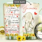 Mom To Daughter Elephant Personalized DNR2810014 Stainless Steel Tumbler