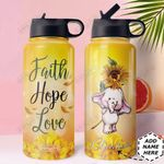 Elephant Faith Personalized MDA2810014 Stainless Steel Bottle With Straw Lid