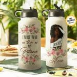 BW Big Girl Personalized THA2810030 Stainless Steel Bottle With Straw Lid