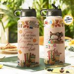 Sewing Personalized THA2810034 Stainless Steel Bottle With Straw Lid