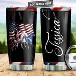 Personalized American Horses PYZ2810019 Stainless Steel Tumbler