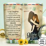 Air Mail To My Daughter Personalized HHS2810017 Stainless Steel Tumbler