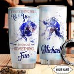 Hockey Choose Something Fun Personalized HHS2810019 Stainless Steel Tumbler