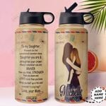 Air Mail To My Daughter Personalized HHS2810007 Stainless Steel Bottle with Straw Lid