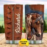 Leather Style With Horse Personalized KD2 MAL2910007 Stainless Steel Tumbler