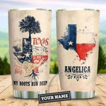 Texas Tree In My Heart Personalized KD2 ZZL2910011 Stainless Steel Tumbler
