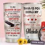 Daughter In Law Eagle Personalized HHA2910001 Stainless Steel Tumbler