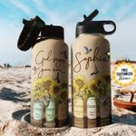 Faith Sunflower Personalized TTR2910012 Stainless Steel Bottle With Straw Lid