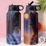 Wolf Personalized TTR2910020 Stainless Steel Bottle With Straw Lid
