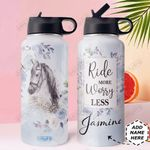 Horse Personalized DNR2910015 Stainless Steel Bottle With Straw Lid