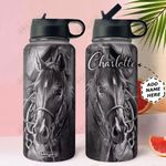 Dark Horse Personalized NNR2910006 Stainless Steel Bottle With Straw Lid
