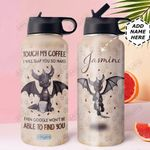 Coffee Dragon Personalized DNR2910004 Stainless Steel Bottle With Straw Lid