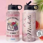 Book Personalized NNR2910003 Stainless Steel Bottle With Straw Lid