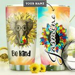 Elephant Autism Awareness Personalized DNR2910026 Stainless Steel Tumbler