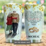 To My Husband Yellow Leaves Personalized KD2 BGX2910004 Stainless Steel Tumbler
