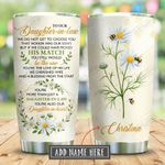 To My Daughter In Law Daisy Personalized KD2 BGX2910003 Stainless Steel Tumbler