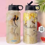Bee Personalized MDA3010019 Stainless Steel Bottle With Straw Lid