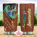 Leather Style Hippie Dragonfly Personalized KD2 MAL3010004 Stainless Steel Tumbler
