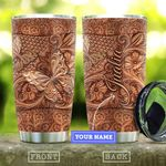 Wooden Style Butterfly Personalized KD2 HAL3010014 Stainless Steel Tumbler