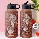 Mermaid Personalized MDA3110008 Stainless Steel Bottle With Straw Lid