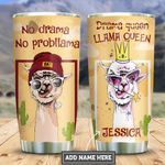 Personalized Llama Queen PYZ3110049 Stainless Steel Tumbler