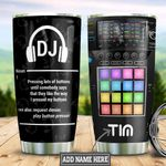Personalized DJ Definition HLZ3110032 Stainless Steel Tumbler