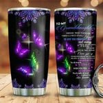 Butterfly Grandma To Granddaughter HLZ3110001 Stainless Steel Tumbler