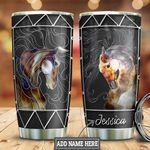Personalized Horse Silver Style HLZ3110058 Stainless Steel Tumbler
