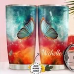 Butterfly Personalized HTC0211001 Stainless Steel Tumbler