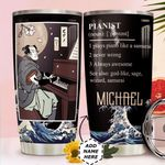 Piano Samurai Personalized HTC0211012 Stainless Steel Tumbler