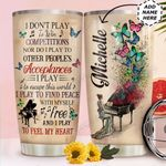 Piano Personalized HTC0211010 Stainless Steel Tumbler