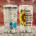 Suicide Prevention Sunflower KD2 HAL0211008 Stainless Steel Tumbler
