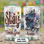 Suicide Prevention Butterfly Personalized KD2 HAL0211007 Stainless Steel Tumbler