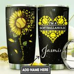 Softball Personalized DNR0211034 Stainless Steel Tumbler