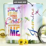 Dragonfly Faith Personalized DNR0211018 Stainless Steel Tumbler
