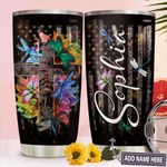 Dragonfly Faith Personalized TTR0211019 Stainless Steel Tumbler