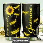 Dragonfly Sunflower Personalized DNR0211030 Stainless Steel Tumbler