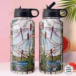 Dragonfly Personalized TTR0211005 Stainless Steel Bottle With Straw Lid