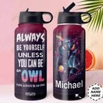 Owl Be Your Self DNS0211005 Stainless Steel Bottle with Straw Lid