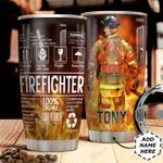Firefighter Label Uniform Personalized HHS0211009 Stainless Steel Tumbler