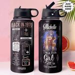 Back In The 1970s Personalized HHS0211002 Stainless Steel Bottle with Straw Lid