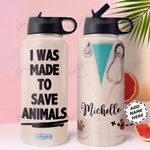 Vet Tech Facts Personalized MDA0211002 Stainless Steel Bottle With Straw Lid