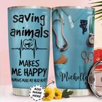 Vet Tech Uniform Personalized MDA0211016 Stainless Steel Tumbler