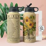 Bible Number Personalized THA0211017 Stainless Steel Bottle With Straw Lid