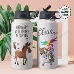 Vet Tech Personalized THA0211029 Stainless Steel Bottle With Straw Lid