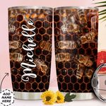 Bee Hive Personalized MDA0211009 Stainless Steel Tumbler